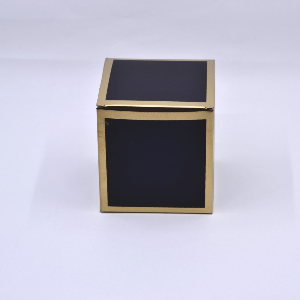 Black Foldable box with gold trimmings