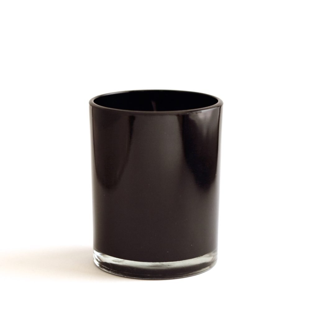 Black Glossy Glass with wooden lid