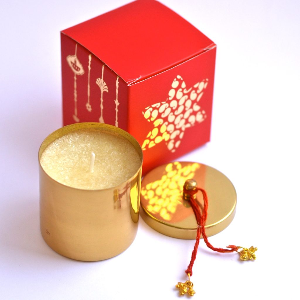 Brass candles with custom box