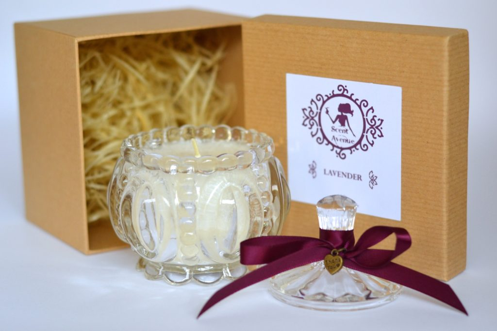 Crystal candles with elegant gift box