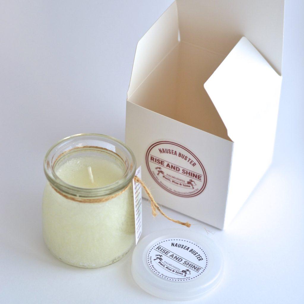 Slender Neck Jar candles with plastic lids