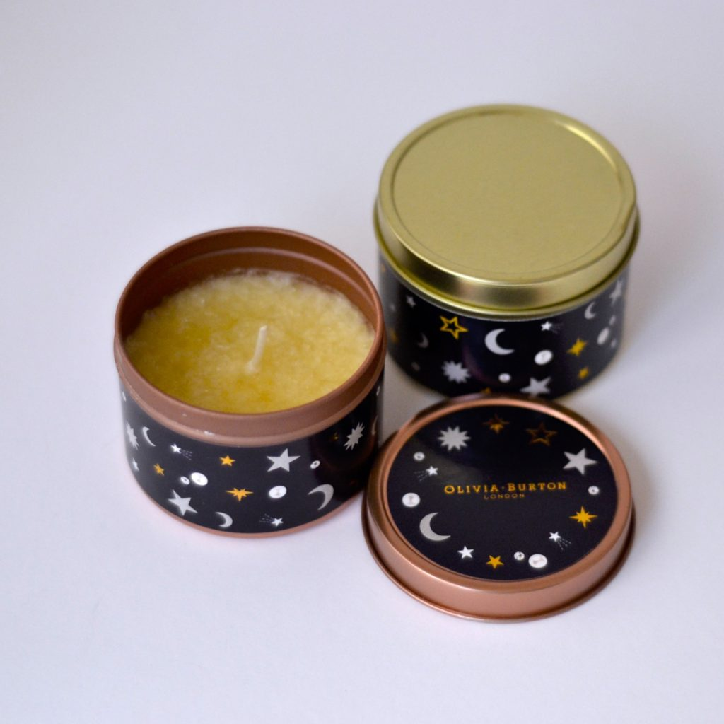 Tin candles Gold and Rose gold with lid and custom label