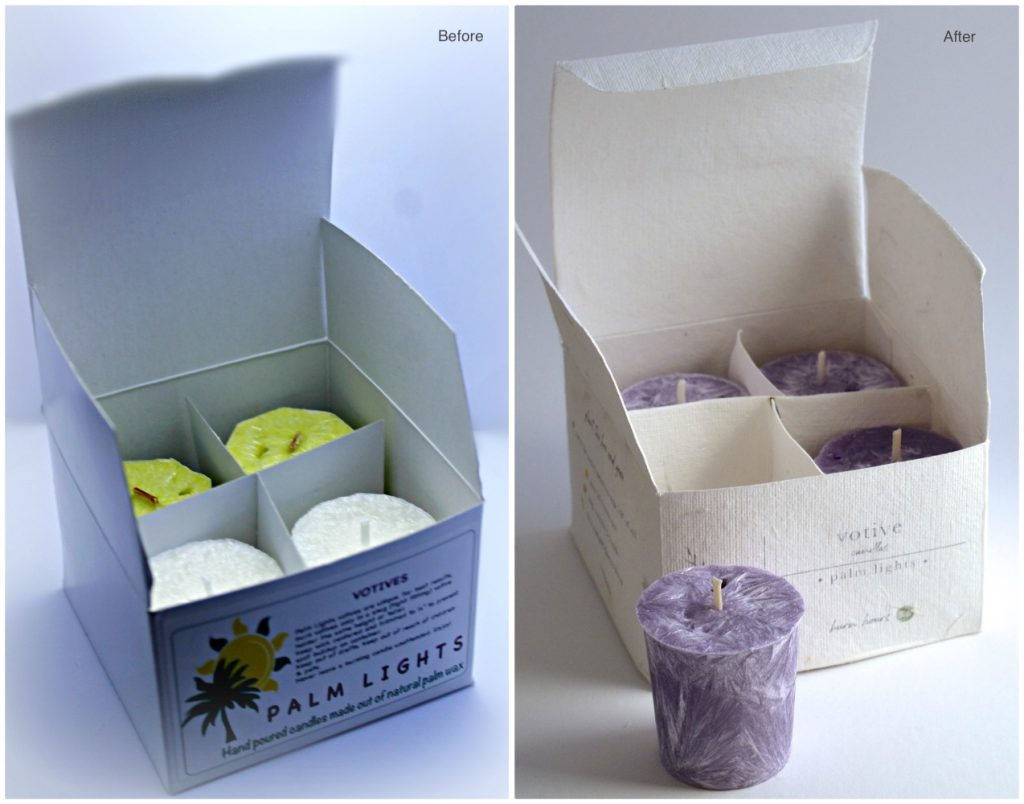votive candles new plantable packaging