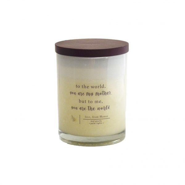 Mothers day White candle with lid