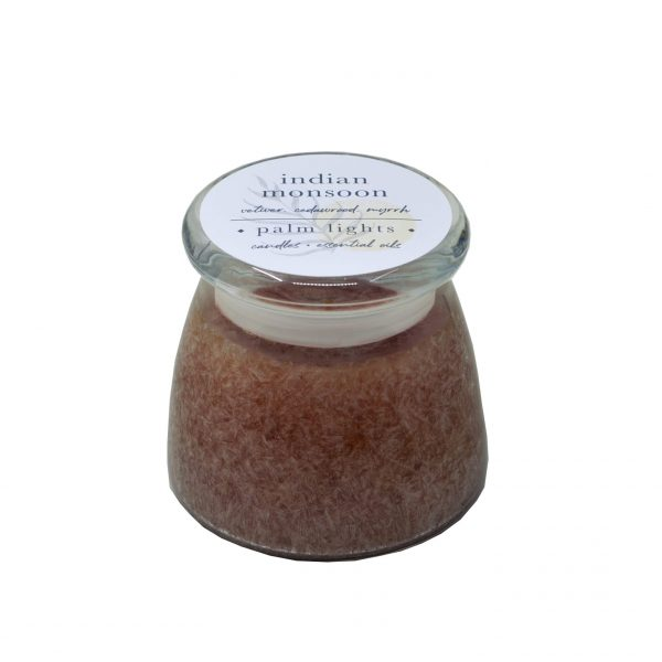 Indian Monsoon Glass Jar Candle